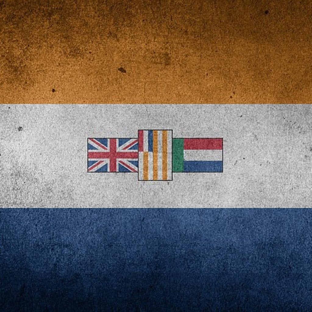 Pik Botha and the old South African flag